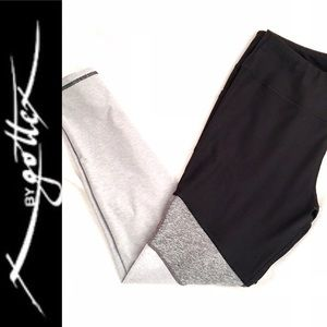 X by Gottex Back and Gray Color Block Leggings